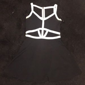 Material Girl keyhole front /back skater dress